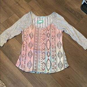 Maurices 3/4 length tee